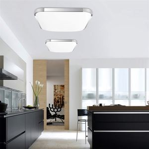 Modern LED Flush Mount Light Aluminum Acrylic Electroplating