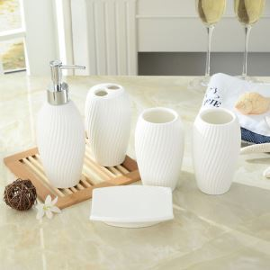 Unique Design White Bath Ensembles 5-piece Bathroom Accessories