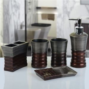 Baroque Style Resin Creative Bath Ensembles 5-piece Bathroom Accessories