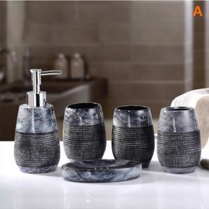 European Modern Resin Creative Bath Ensembles 5-piece Bathroom Accessories