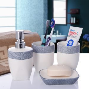 Fashionable Creative Ceramic Bath Ensembles 4 Piece Bathroom Accessories