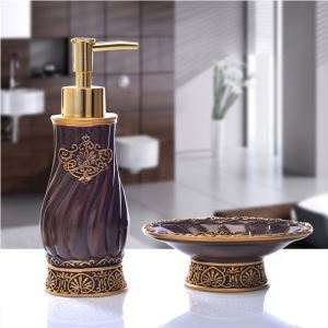 European Creative Resin Bath Ensembles 2-piece Bathroom Accessories