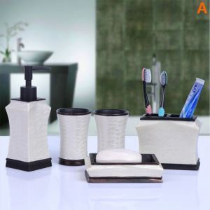 Fashionable Creative Resin Bath Ensembles 6-piece Bathroom Accessories
