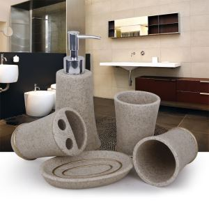 Sandstone Creative Resin Bath Ensembles 4-piece 5-piece Bathroom Accessories