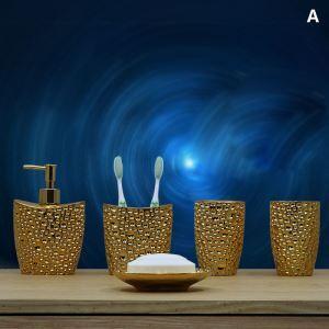 European Style Creative Resin Bath Ensembles 5-piece Bathroom Accessories