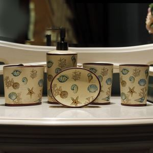 European Style Creative Ceramic Bath Ensembles 5-piece Bathroom Accessories