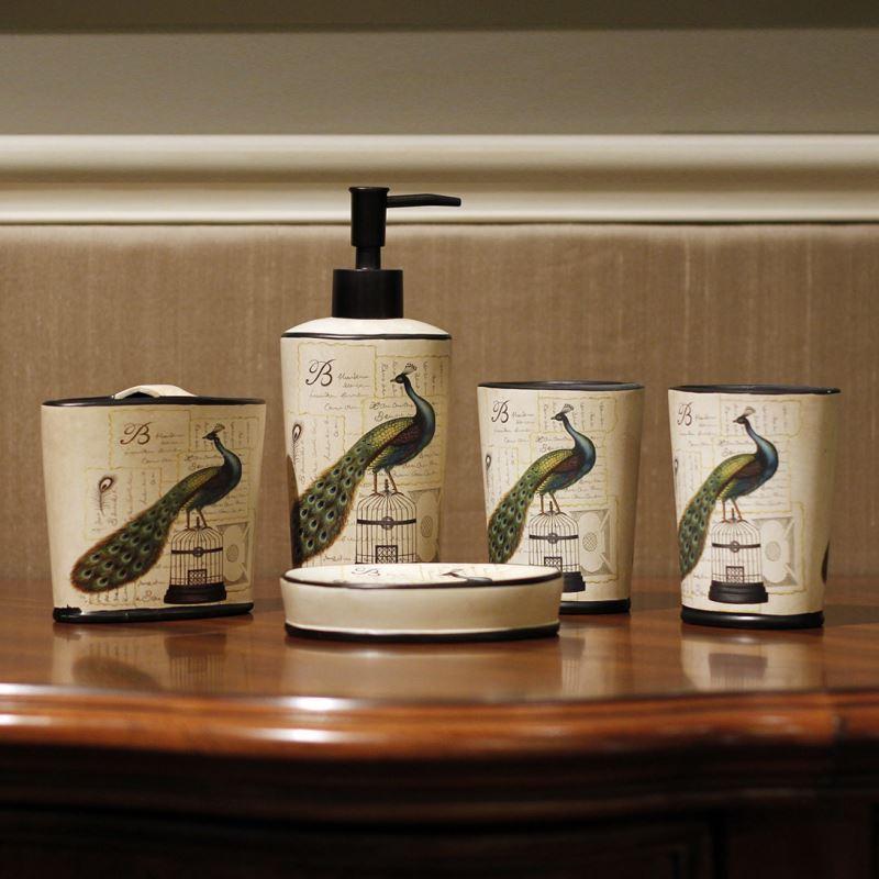 Bathroom bath ensembles european style peacock for European style bathroom