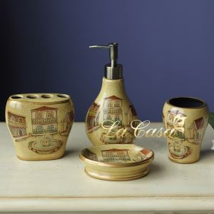 European Style Creative Ceramic Bath Ensembles 4-piece Bathroom Accessories