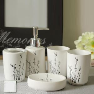 Fashionable Silhouette Creative Ceramic Bath Ensembles 5-piece Bathroom Accessories
