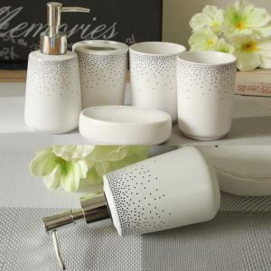 Fashionable Fireworks Creative Ceramic Bath Ensembles 5-piece Bathroom Accessories