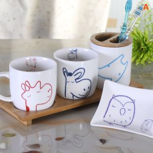 Cartoon Cute Pet Creative Ceramic Bath Ensembles 4-piece 5-piece Bathroom Accessories
