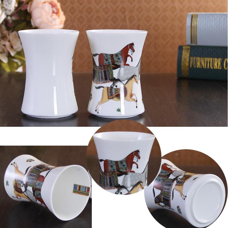 Bathroom Bath Ensembles European Horse Creative Ceramic 4 Piece 5 Accessories