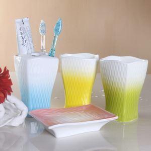 Fashionable Rainbow Creative Ceramic Bath Ensembles 4-piece 5-piece Bathroom Accessories