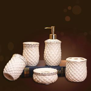 Modern Rural Creative Ceramic Bath Ensembles 5-piece Bathroom Accessories