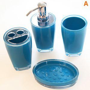 Fashionable Blue Creative Resin Bath Ensembles 4-piece 5-piece Bathroom Accessories