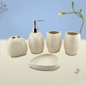 Fashionable Creative Resin Bath Ensembles 5-piece Bathroom Accessories