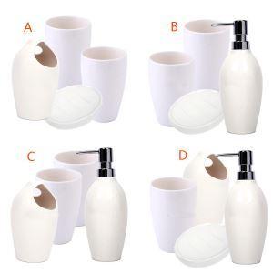 Fashionable White Creative Ceramic Bath Ensembles 4-piece Bathroom Accessories