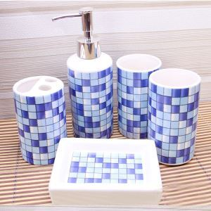 Mosaic Creative Ceramic Bath Ensembles 5-piece Bathroom Accessories