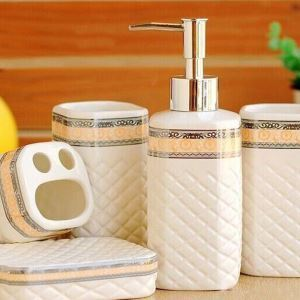 Fashionable Creative Ceramic Bath Ensembles 5-piece Bathroom Accessories