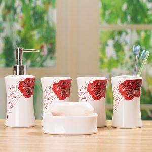 European Style Creative Ceramic Bath Ensembles 5-piece Bathroom Accessories
