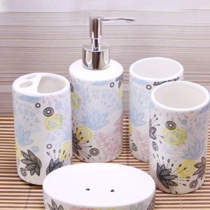 Rural Creative Ceramic Bath Ensembles 4-piece 5-piece Bathroom Accessories