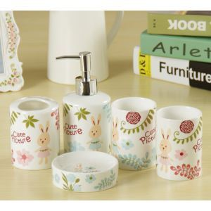 Rural Creative Ceramic Bath Ensembles 5-piece Bathroom Accessories