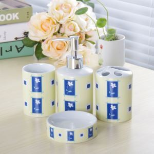 Rural Creative Ceramic Bath Ensembles 4-piece Bathroom Accessories