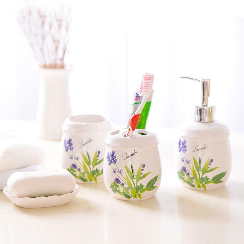 Bathroom bath ensembles european style lavender for Bathroom ensembles accessories