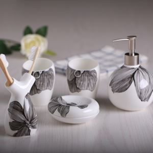 European Simple Creative Ceramic Bath Ensembles 5-piece Bathroom Accessories