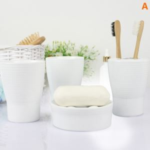 Modern Simple Ceramic Bath Ensembles 4-piece Bathroom Accessories