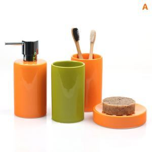 Modern Cylindrical Creative Ceramic Bath Ensembles 4-piece Bathroom Accessories