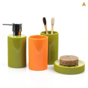 Modern Cylindrical Creative Ceramic Bath Ensembles 5-piece Bathroom Accessories