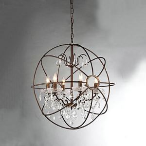 Chandeliers Crystal Vintage Bedroom / Dining Room Lighting Ideas / Entry / Hallway Metal