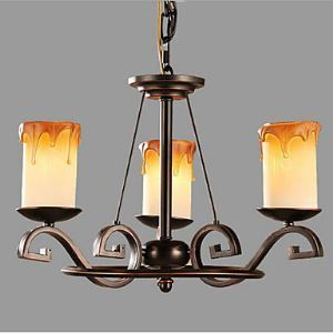 Study The living Room Antique Candle lamp Iron Chandelier
