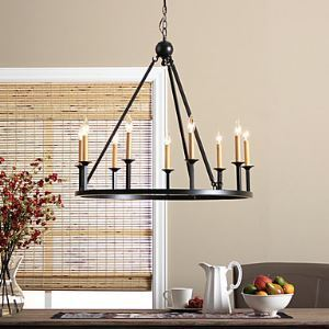 Chandeliers Bulb Included Country Bedroom / Dining Room Lighting Ideas / Entry / Hallway Metal