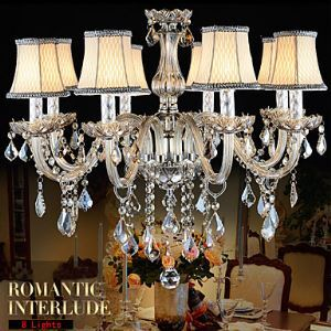 Large Crystal Chandelier 8 Arms Luxury Crystal Light Fashion Chandelier Crystal Light