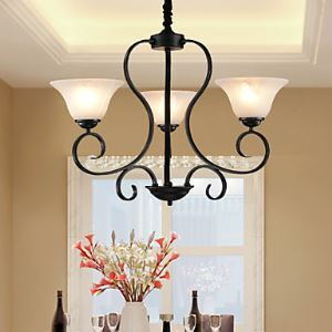 3 Lights Retro Chandeliers/ Country Living Room / Bedroom / Dining Room Lighting Ideas / Study Room/Office / Hallway Metal