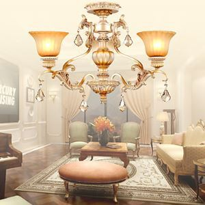 Chandeliers Crystal Traditional/Classic Living Room / Bedroom / Dining Room Lighting Ideas Metal