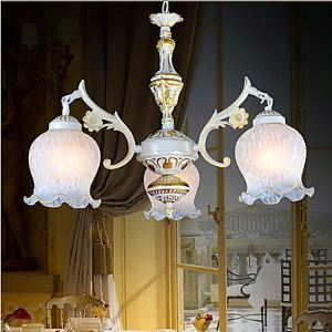 Jane Retro Bedroom lamp Iron Mediterranean Restaurant Study Lighting
