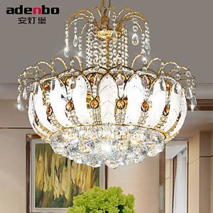 Modern LED Crystal Pendant Lights 45cm With Glass Leaves And Cristal Balls For Dining Room Lighting Ideas Lighting (952-45)