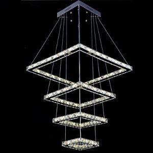 LED Pendant Lights Ceiling Chandeliers Lamp Lighting Fixtures with 4 Rings