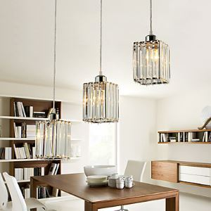 Pendant Lights / Flush Mount Crystal / Bulb Included Modern/Contemporary Dining Room Lighting Ideas Crystal