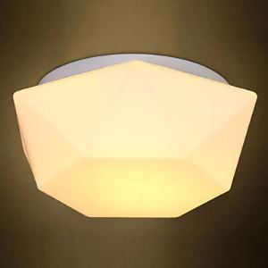 E27 220V 30*20CM 5-15㎡Creative White Diamond Glass Dome Light Absorb Led