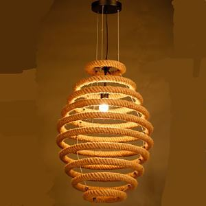 American Country Hemp Honeycomb Chandelier