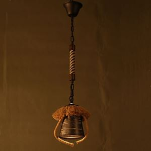 American Country Retro Restaurant Coffee Hall Hemp Ceramic lamp
