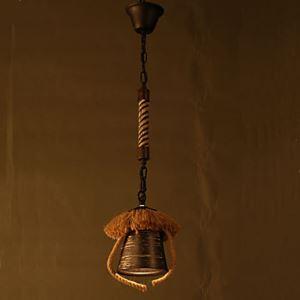 American Country Retro Restaurant Coffee Hall Hemp Ceramic lamp