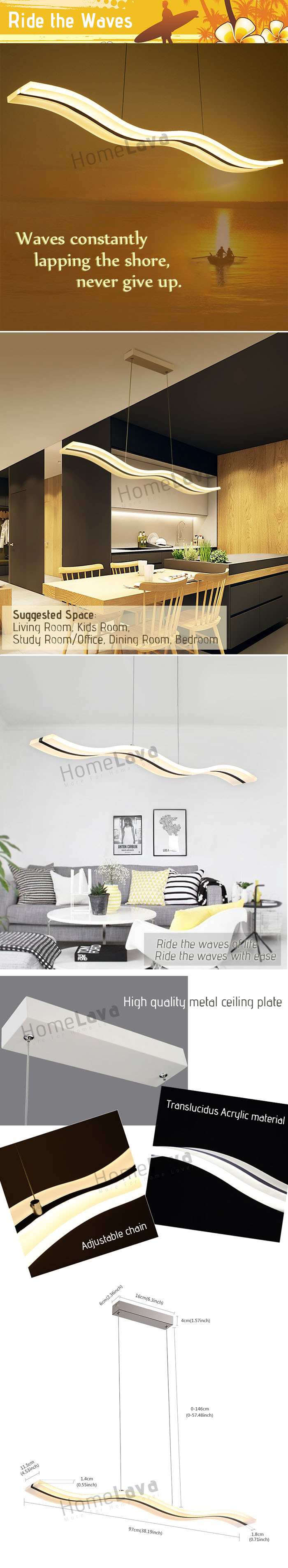 Pendant Lights LED Modern  Contemporary Living Room  Bedroom  Dining Room  Study Room  Office  Kids Room