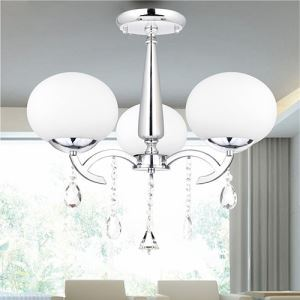 Elegant Modern Crystal 3 Light Chandelier