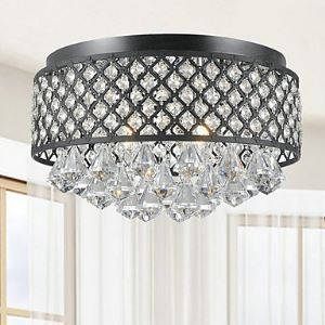 Flush Mount Crystal Traditional/Classic Living Room / Bedroom / Dining Room / Study Room/Office / Entry Metal