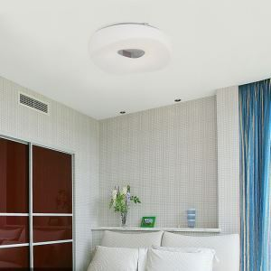 Modern Simple Creative LED Dimmable Acrylic White Round Flush Mount Light Living Room Bedroom Study Room Dining Room Energy Saving